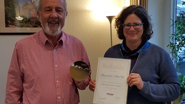 50 jähriges Bestehen: Bergedorfer Ski-Club erhält DSV Ehrenplakette in Gold