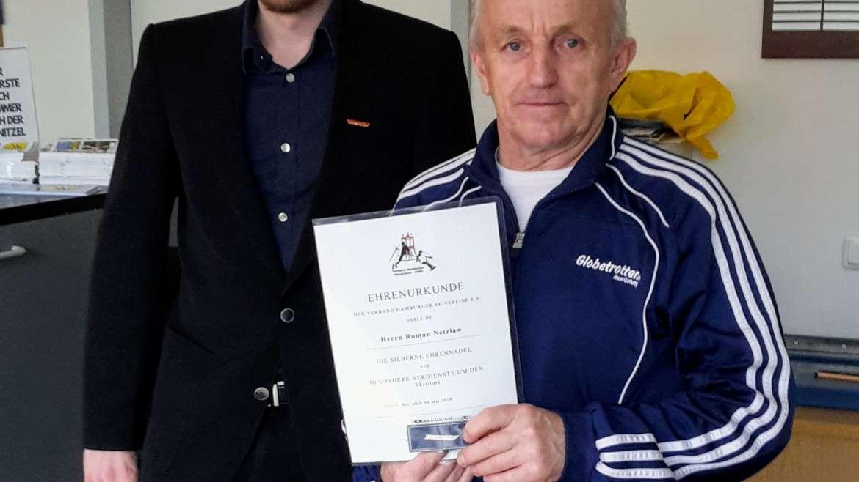 VHSV verleiht Roman Netzlaw die silberne Ehrennadel